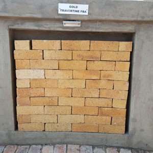 Gold Travertine - Semi Face Brick